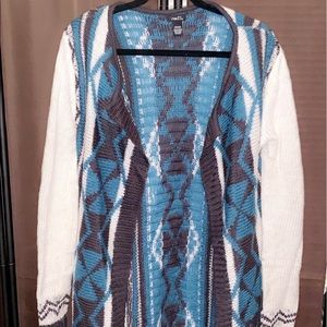 Knitted sweater duster in size M in Ladies